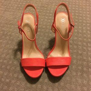 NWOT XOXO coral high heels